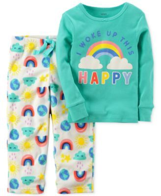 Carter's 2-Pc. Woke Up This Happy Pajama Set, Little Girls (4-6X) & Big Girls (7-16)