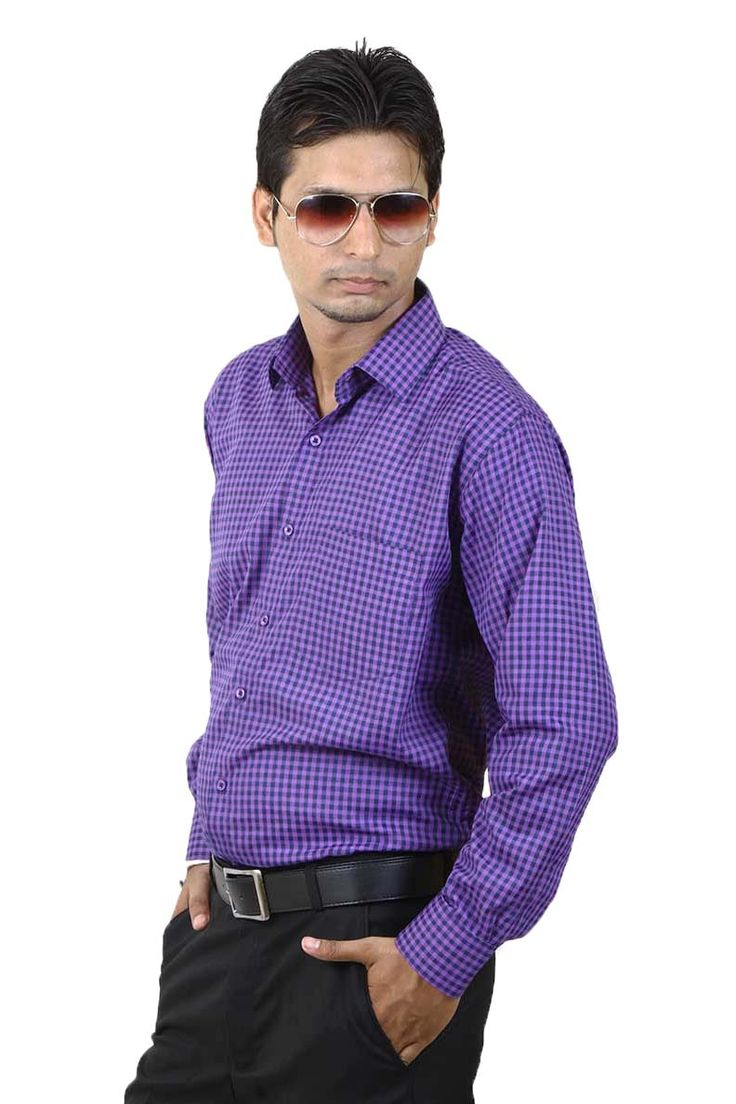 http://tinyurl.com/zzb3l86 Buy SIERA Blue Polyester Formal Shirts Online For Men Lowest Prices only on GetAbhi.com