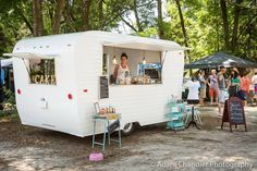 Cool vintage camper food truck Sweet Lulu's Bakery On Wheels