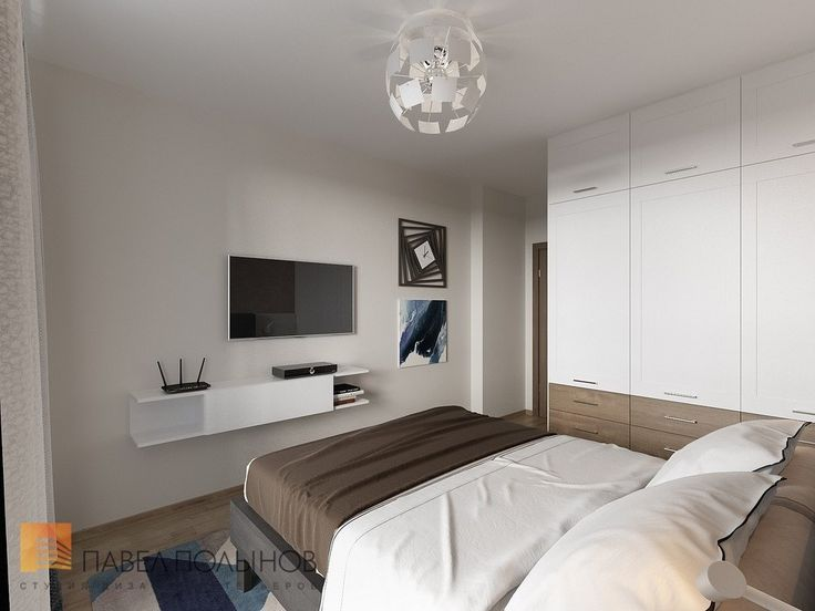Фото: Дизайн спальни - Интерьер квартиры в современном стиле, ЖК «Солнечный»