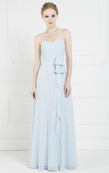 Stylish Chiffon Light Blue Bridesmaid Dress BNNBC0023-Bridesmaid UK