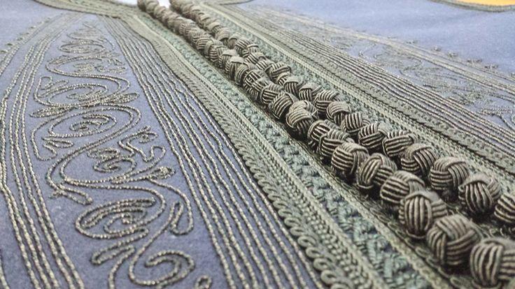Embroidery on Mens traditional costume  Φέρμελη ανδρικής φουστανέλας Ρούμελης