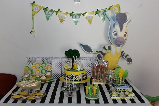 "Photo 1 of 14: zebra / Birthday ""Delfina's Zou Bithday Party""   Catch My Party"