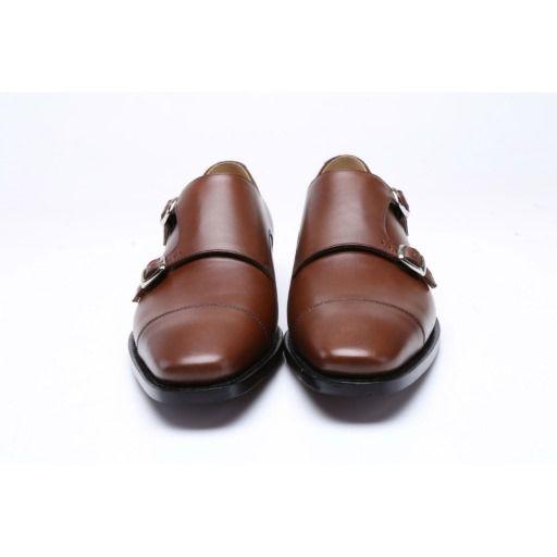 Dark Brown Handmade Goodyear Welted Monkstrap