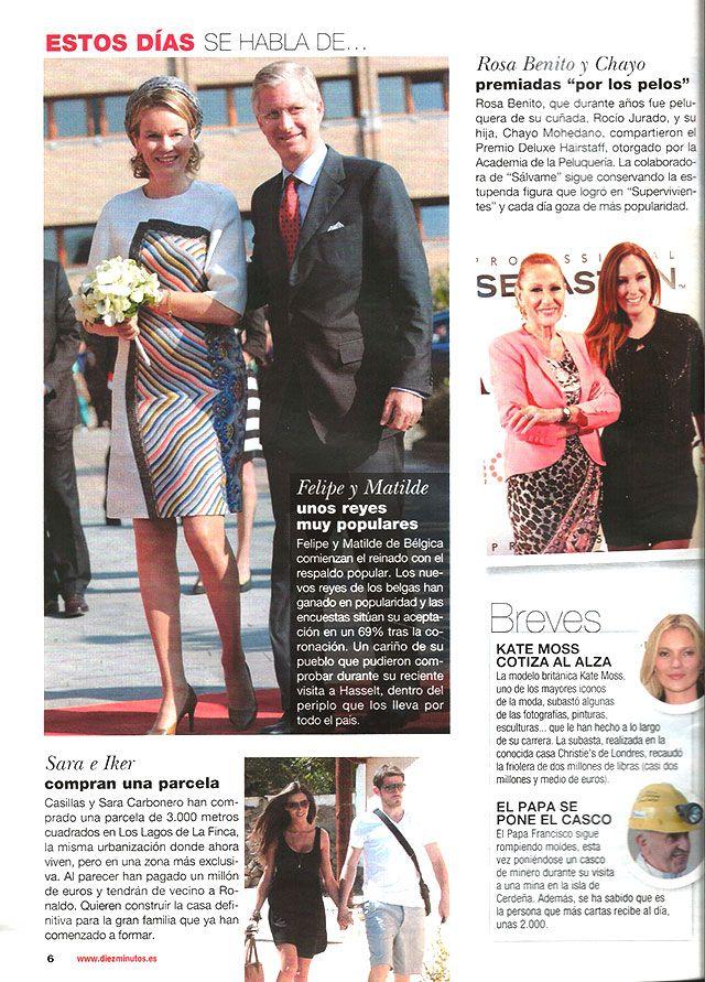 Publicación en la revista Diez Minutos de la Gala Hairstaff Deluxe, celebrada en septiembre del 2013 en el hotel Intercontinental de Madrid.