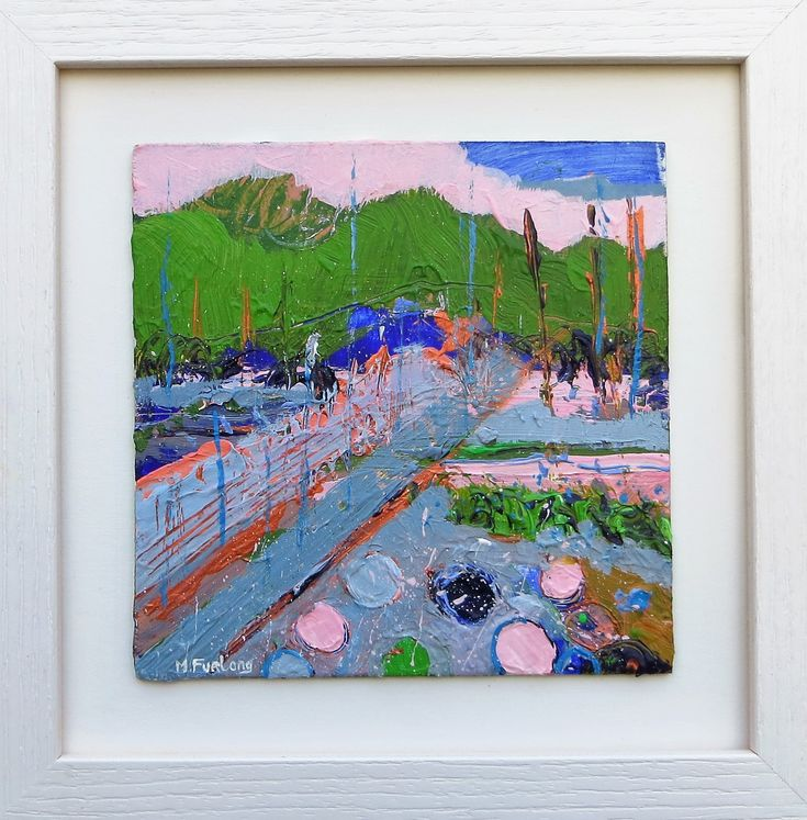 In Pink, Green And Blue (framed)