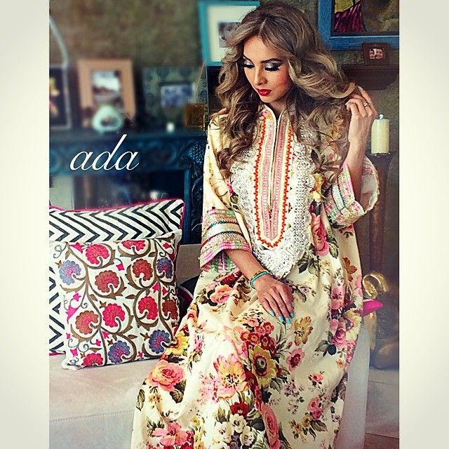 Free size floral kaftan #caftan #cotton #q8 #daraa #jalabiya #doha #qatar #jeddah #uae #abudhabi #dubai #summer#chic #cool#comfy#ksa #Padgram