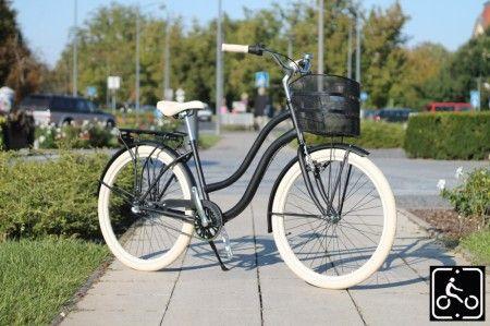 Egyedi Agyváltós Női Cruiser Kerékpár 3sp - Matt-fekete-Krem