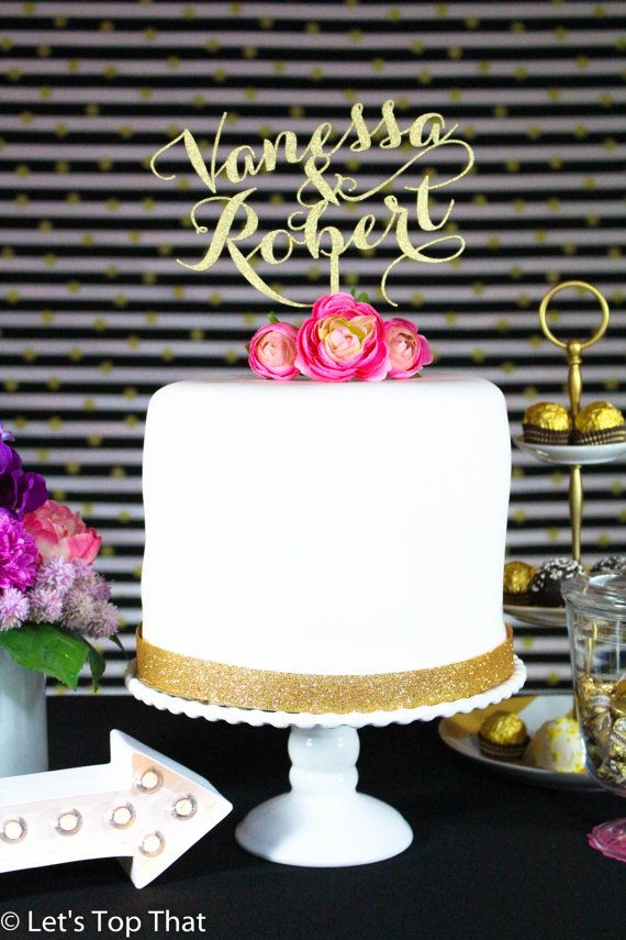Personalized Custom Mr & Mrs Wedding Cake Topper by LetsTopThat