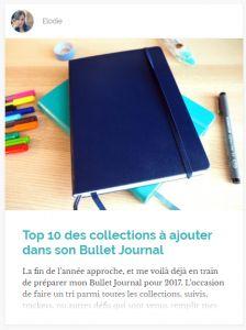 Top 10 des collections à ajouter dans son Bullet Journal - Soho Hana