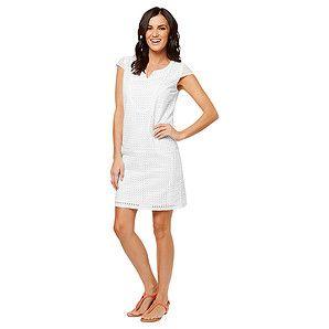 Broderie Shift Dress - White – Target Australia