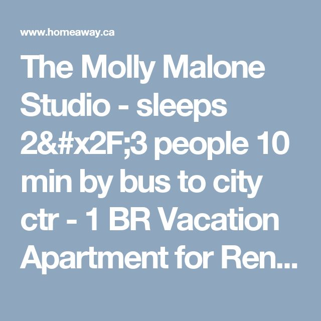 The Molly Malone Studio - sleeps 2/3 people 10 min by bus to city ctr - 1 BR Vacation Apartment for Rent in Cabra East , Ireland | HomeAway.ca