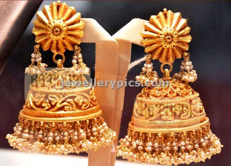 22carat Nakshi gold Jhumka   buttalu designs - Latest Jewellery Designs