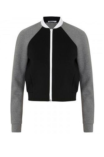 T by Alexander Wang Neoprene And Jersey Bomber Jacket, £225, available at Harvey Nichols.
