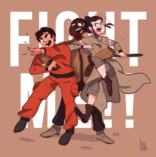 #finndefendsquadI can't get enough of these 3?? I love them and now I have like 235234 headcanons which one of those is that Poe and Rey are ready to fight you if you are rude to Finn (ง'̀-'́)ง(ง'̀-'́)ง DeviantArt |Twitter