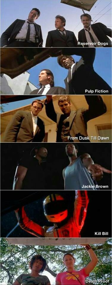 Quentin Tarantino, Deathproof, Kill bill, Jackie Brown, Pulp Fiction Reservoir Dogs
