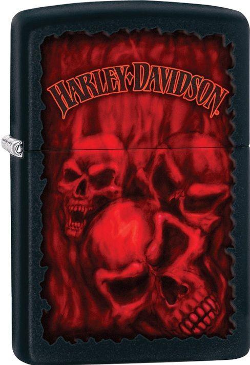 28826 HARLEY DAVISDON ZIPPO RED SKULLS CHEAP ZIPPO LIGHTERS