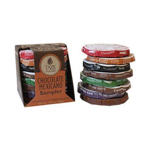 Sample-pakke fra Taza Chocolate - super lækker mexicansk chokolade i de lækreste varianter. En skøn gaveidé