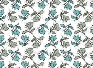 Pattern Blue & Gray Magnolia
