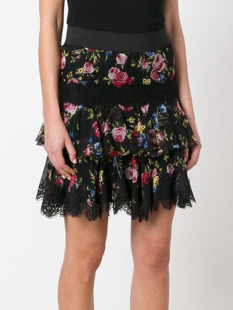 Dolce & Gabbana floral lace hem skirt