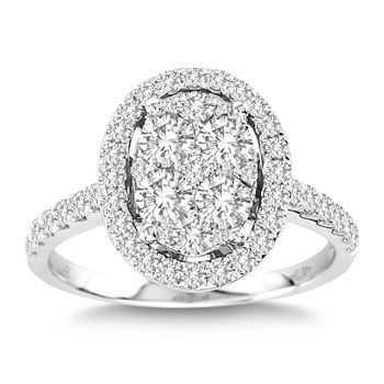 cosco oval diamond wedding ring set