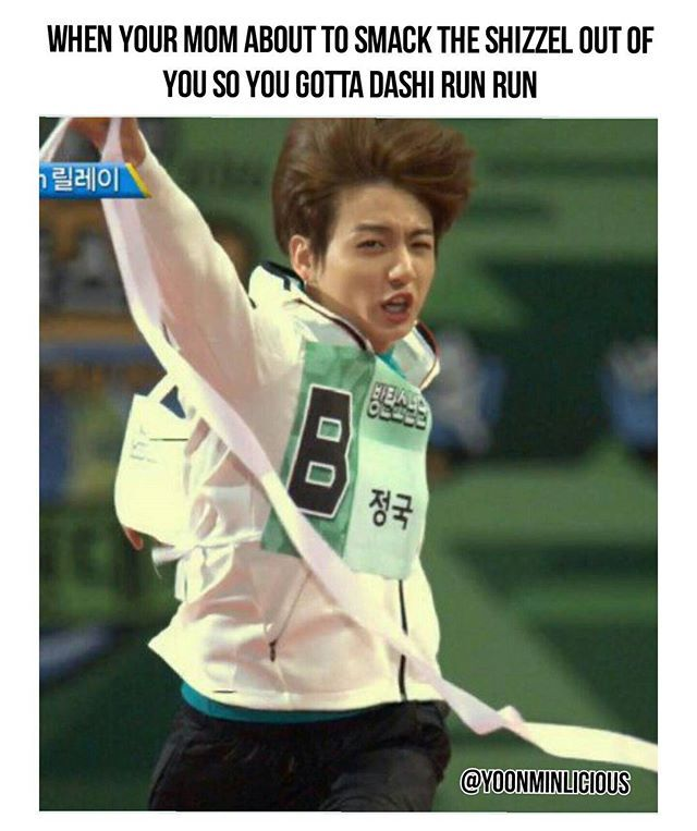 I actually choked / lol I can relate, must dasi run run run for your life | BTS - Jungkook