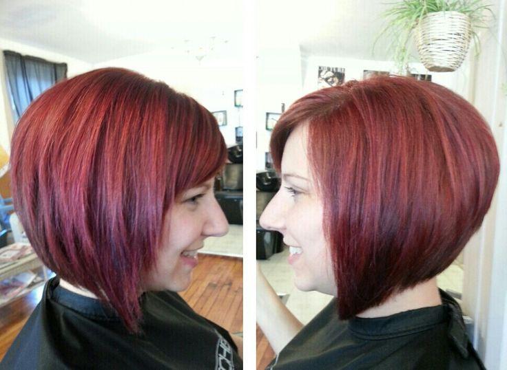 Angled bob red hair | Hair | Pinterest | Angle bob, Short ...