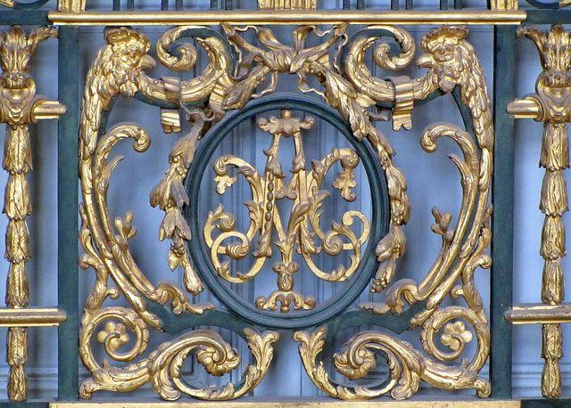 Marie Antoinette Monogram, Petit Trianon by Just_Bernard, via Flickr