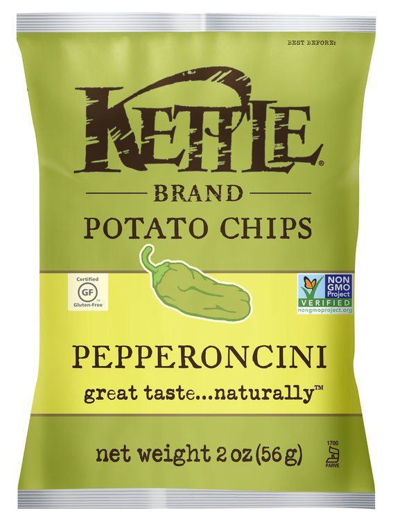 See 6 reviews on Kettle Brand Pepperoncini Chips in Chips: These are delicious! Nice and crisp, and not too oily. The flavor is definitely interesting - not spicy, but not too mild, and a slight sour taste....