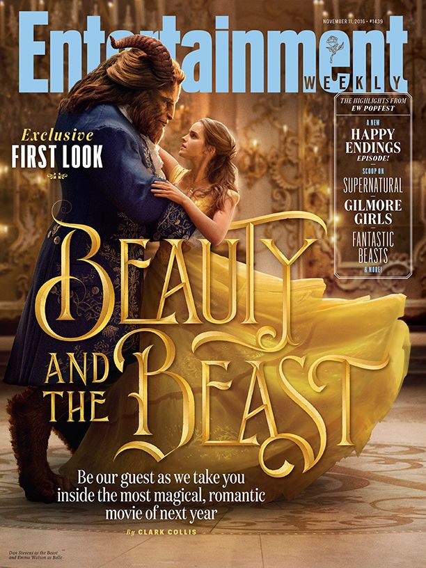 "Portada de Entertainment Weekly de ""La Bella y la Bestia"" (2017)"