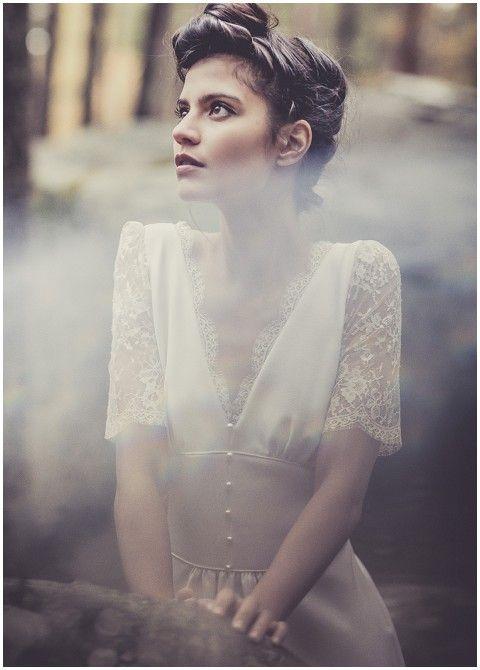 20s French wedding dress by Laure de Sagazan #weddingdress