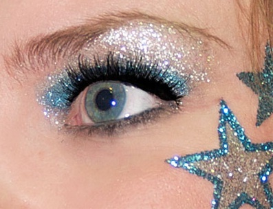 Glitter star #Cheer make-up (Blue and Silver)