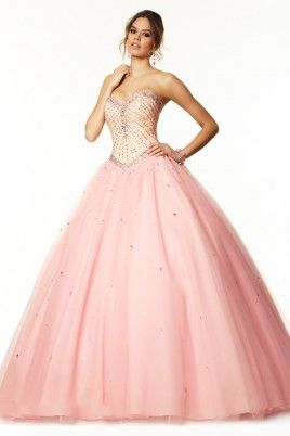 2016 Bicolor Sweetheart Prom Dresses Floor-Length Tulle Ball Gown Beaded Bodice