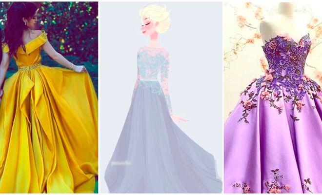 Hermosos vestidos inspirados en las princesas de Disney - Yo amo los zapatos