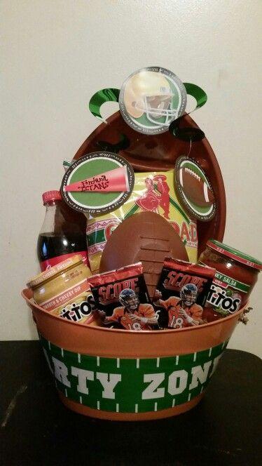 football raffle basket homemade by tina pinterest raffle baskets auction baskets and gift baskets