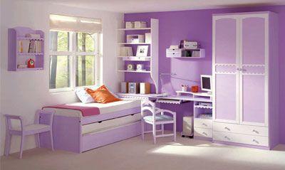 habitacion infantil color lila