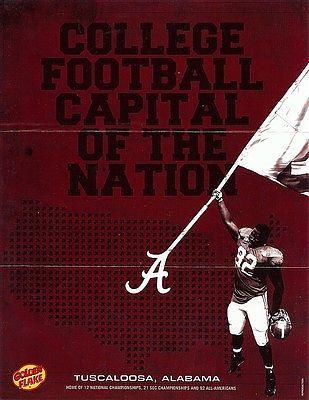 Alabama College Football Capital of the Nation Mini Poster ...