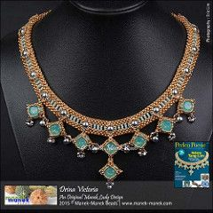 Drina Victoria (Il Manek Lady) Tags: collana di perle di cristallo Swarovski Collier collare Miyuki Perlen Poesie Craw praw maneklady