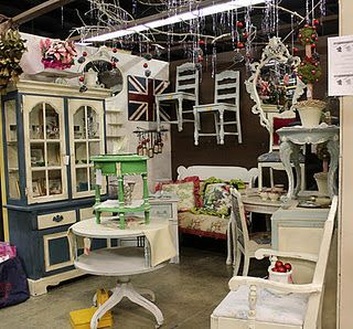 Antique Mall Booth Wooden Chairs And The Wall On Pinterest