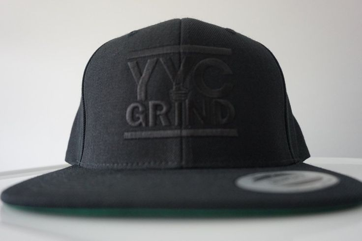 YYC GRIND Black on Black Snap Back Hat