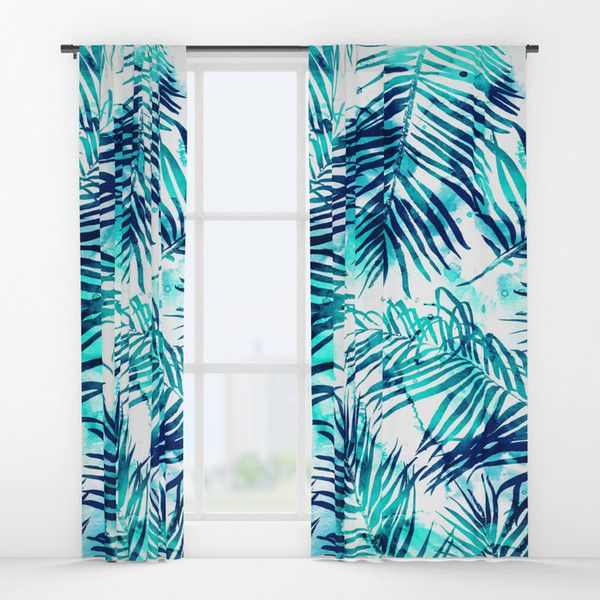 Tropical Heaven #society6 #decor #buyart Window Curtains ($80) ❤ liked on Polyvore featuring home, home decor, window treatments, curtains, tropical home decor, tropical window treatments and tropical curtains
