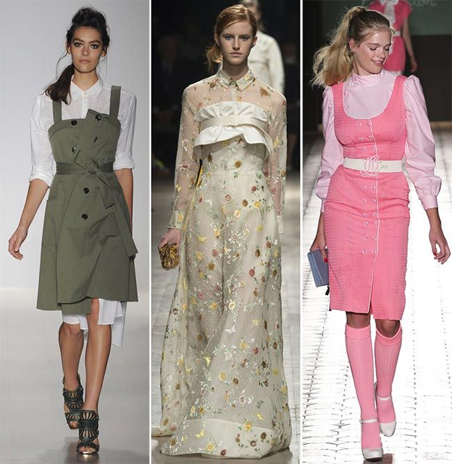 Spring/ Summer 2015 Fashion Trends: Shirts Worn Under Dresses|www.fashionisers.com #2015fashiontrends
