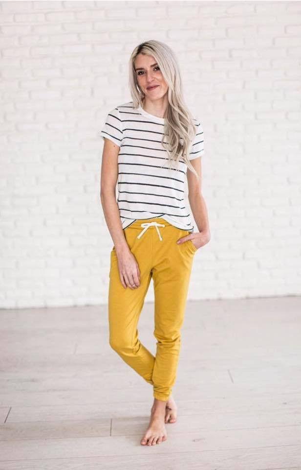 mustard breakout lounger pants