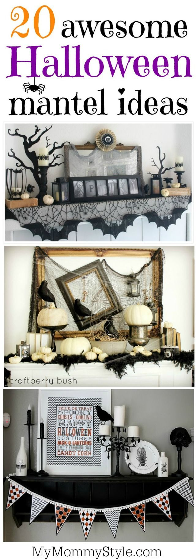 20 awesome Halloween mantel ideas