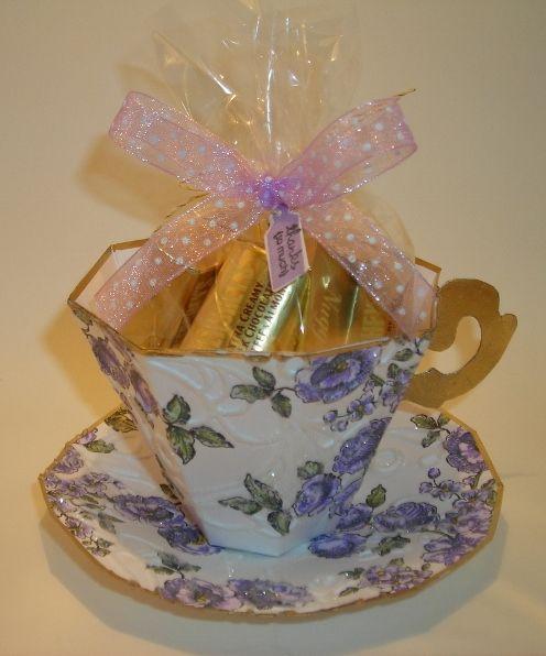 TLady Designs: MORE ELEGANT PAPER TEA CUPS!