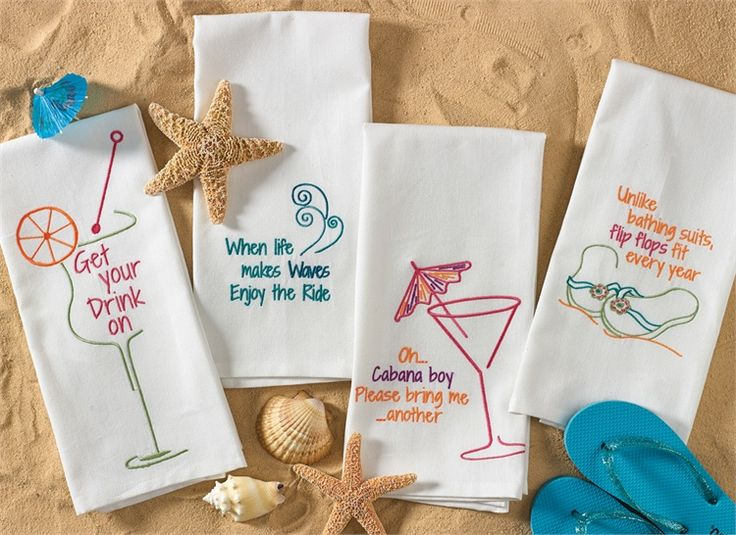 69 best drink themed towels images on pinterest