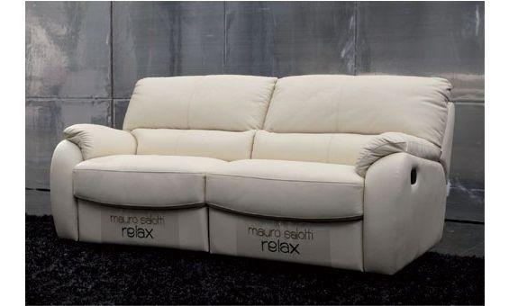 Sof relax tres plazas en piel natural espesorada color for Sofa rinconera piel