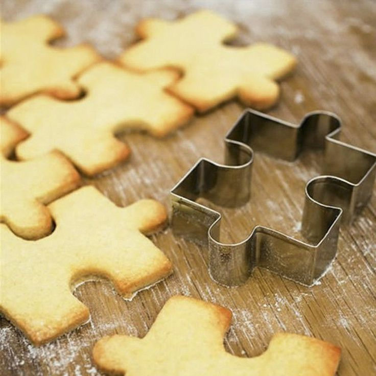 Stainless Steel Puzzle Shape Cake Biscuit Cookie Cutter Mold Pastry Baking Tool #STARLINKSTAR