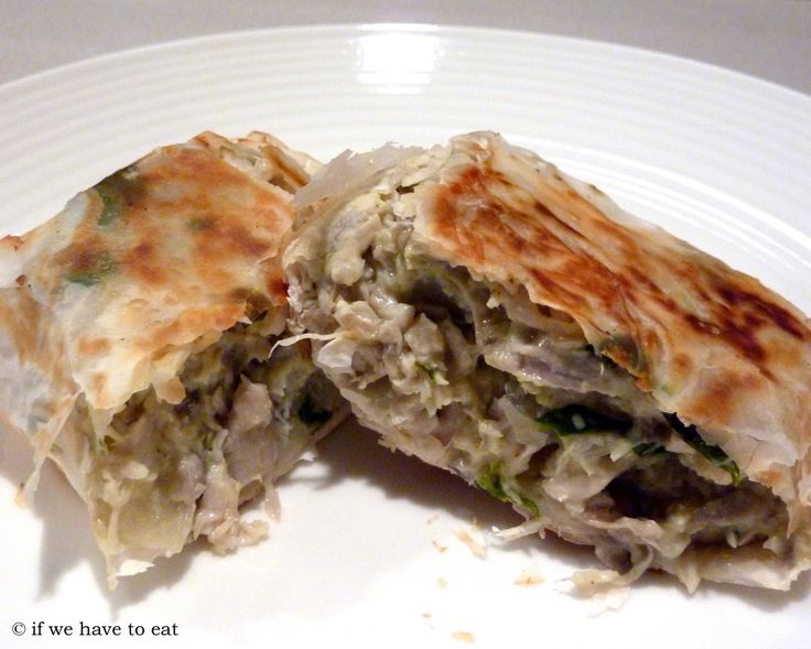Since the pork, pine nut and spinach parcels worked out so well, I thought I'd try it again with chicken, mushroom and spinach. In this recipe, corn flour is used to give the filling a bit of a sa…