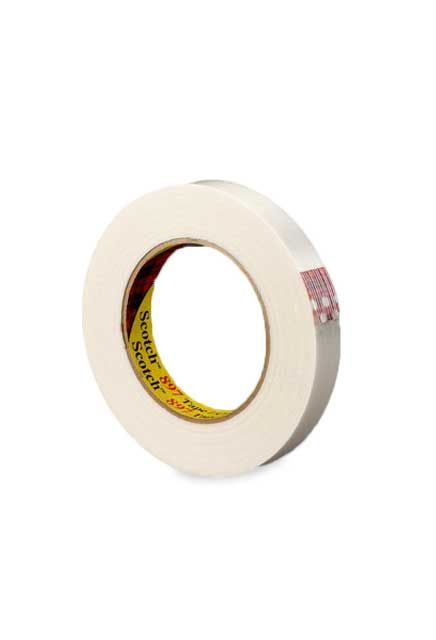 Tartan Filament tape 897: Scotch Filament Tape 897 is a clear polypropylene backing reinforced with glass yarn filaments with a synthetic rubber resin adhesive.